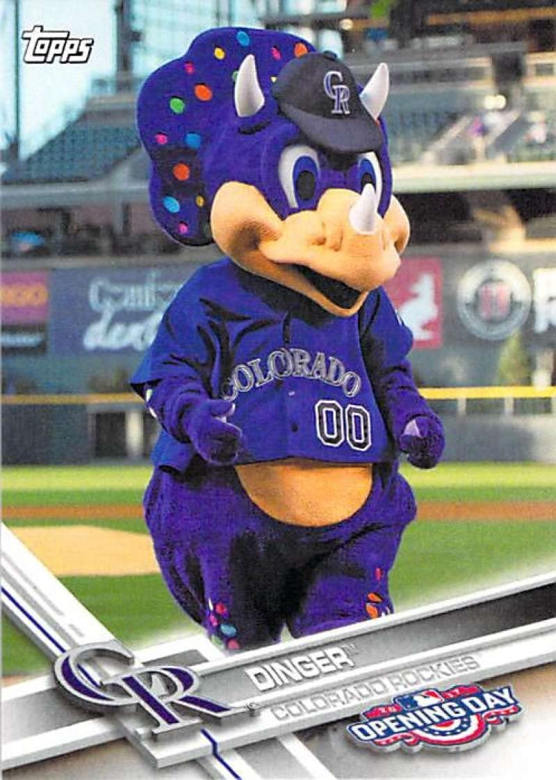 2011 Topps Opening Day Mascots #M-8 Dinger Rockies Baseball Card NM-MT