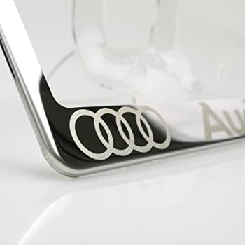 Audi Q5 Chrome License Plate Frame with Caps hot sale - easytechs.co.uk