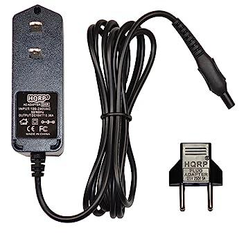 HQRP Cargador para Philips 8500X HQ8500 HQ8000 HQ7310 HQ7360 HQ7300 1059X, 6000 SERIES RQ1090 RQ1180 RQ1250 Máquina de afeitar más Adaptadores de ...