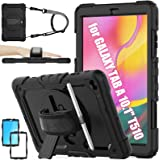 SEYMAC stock Case for Galaxy Tab A 10.1 T510/T515/T517 2019, 3-Layer Drop-Proof Protection Case with [360 Degrees Rotating St