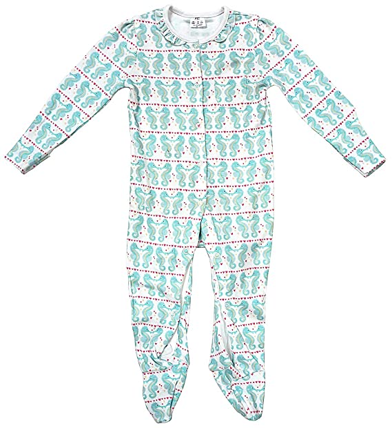 85e31941b35c Girls Baby Seahorse Sleepsuit Cotton Romper Sizes from Prem Tiny ...