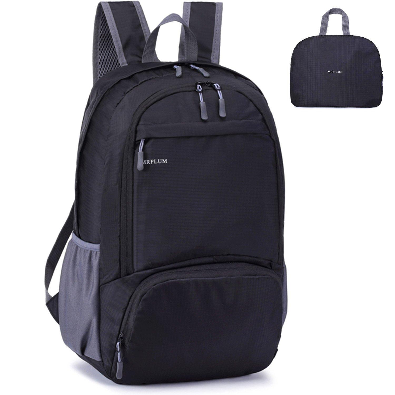 MRPLUM 30L lightweight Folding backpack Waterproof backpack Sports backpack Day backpack Travel backpack Outdoor backpack Mens backpack Ladies backpack Small backpack Camping Travel essentials