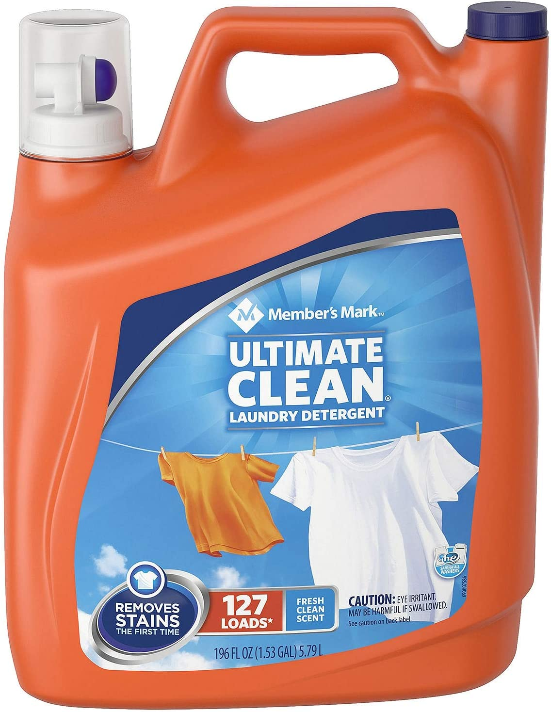 Member's Mark Ultimate Clean Liquid Laundry Detergent (196 oz., 127 loads) (pack of 6)