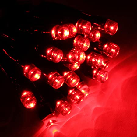 200 red led christmas tree lights string with chasingstatic settings suitable for indoor