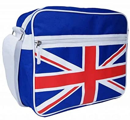 01100475eb7c Jazzi Union Jack Man Mens A4 Boys Girls School College Sports Fashion  Shoulder Messenger Holdall Bag  Amazon.in  Bags
