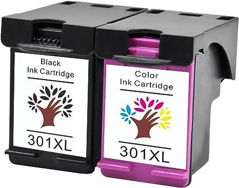 GREENSKY Reemplazo de Cartucho de Tinta Compatible para HP 301 ...