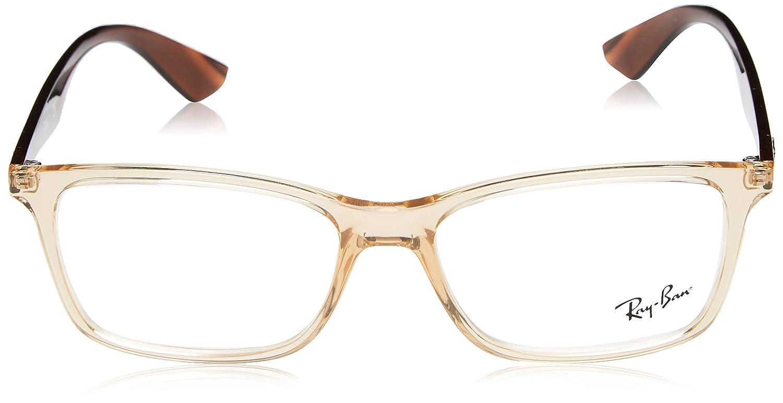 0dbedb21b6 Amazon.com  Ray-Ban Men s 0rx7047 No Polarization Rectangular Prescription  Eyewear Frame