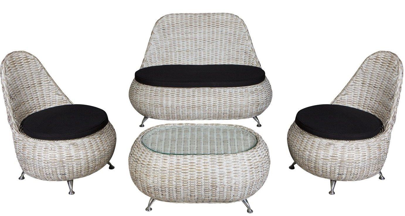 Conjunto Muebles de Jardin: Sofa + sillones + mesa en Rattan ...