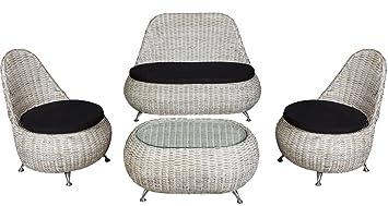 Conjunto Muebles de Jardin: Sofa + sillones + mesa en Rattan