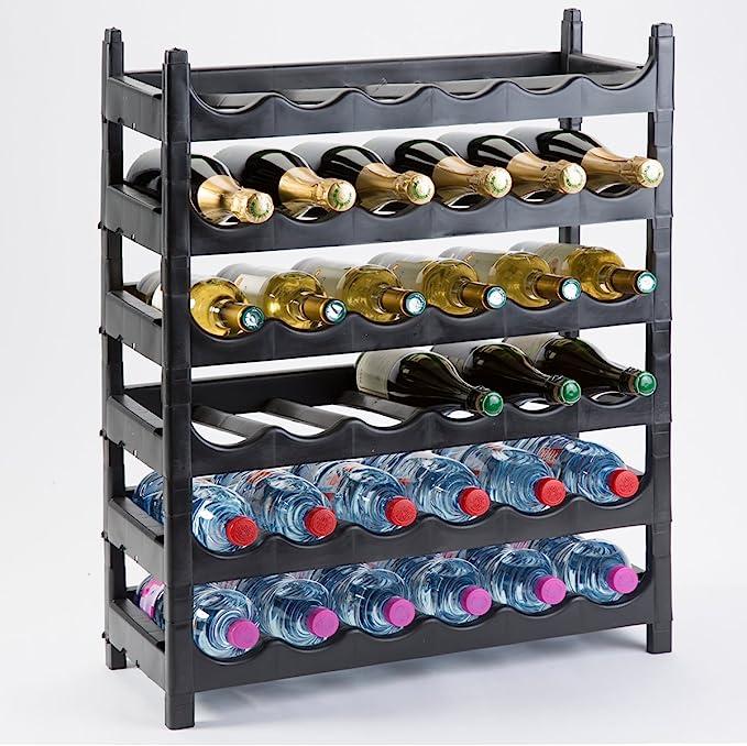 Estantería Soporte de botella de Botella de plástico 36 botellas ...