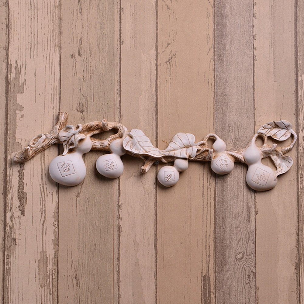 Chinese creative wall ornaments / wall coat rack / row hook / bedroom clothing store wall decoration hook ( Style : 3 )