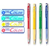 Pilot Color Eno Neox Mechanical Pencil Lead, 0.7 mm , 4 color set (Red, Yellow, Green, Blue)
