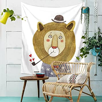 Elefant / Kätzchen Tapisserie Dekoration Schlafzimmer Wand Tuch Hintergrund  Tuch Tischdecke Wandbilder , 006 , 150