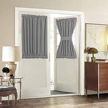 Blackout Door Window Curtain Panels For Privacy