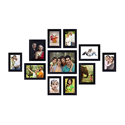 Amazon Brand - Solimo Collage Photo Frames (Set of 11, Wall Hanging ...