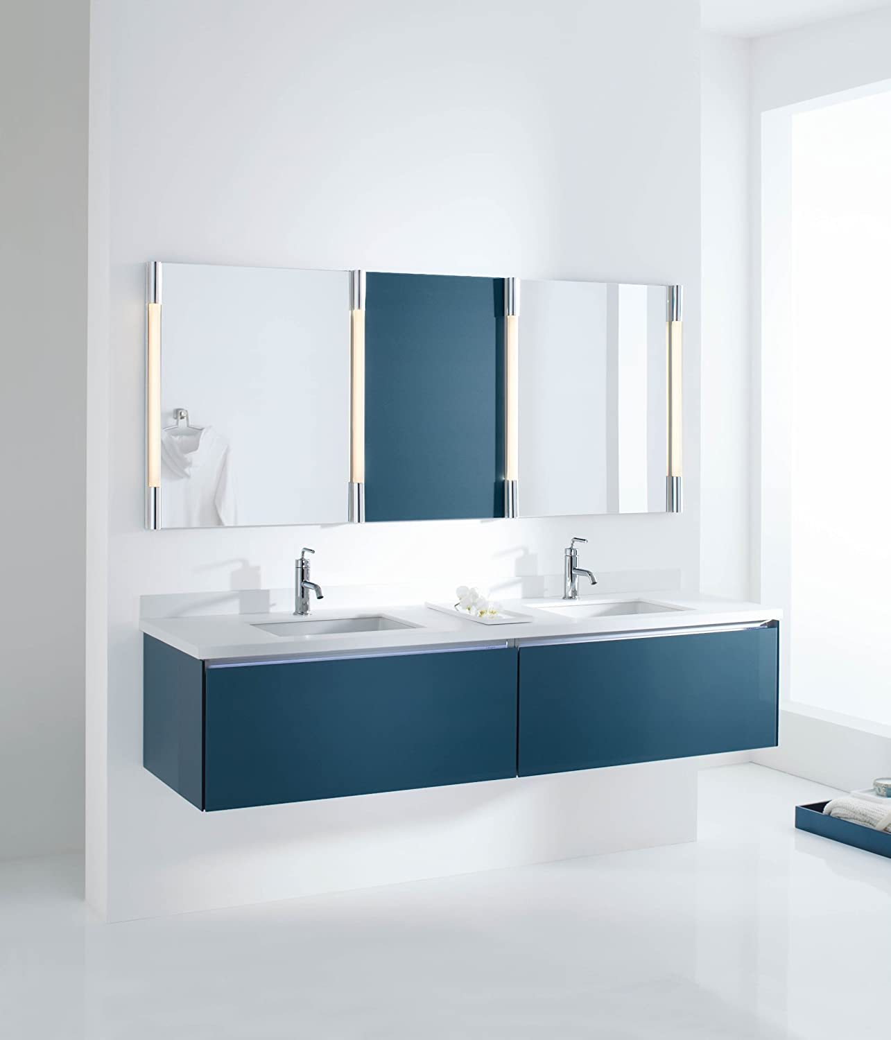 KOHLER K-2882-95 Verticyl Rectangle Undercounter Bathroom Sink, Ice ...