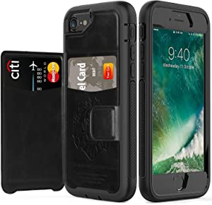 timecity iPhone SE 2020 Case/iPhone 8 Wallet Case/iPhone 7 Card Case/iPhone 6 Leather Case.Slim Yet Protective with Kickstand.Flip Leather Cover for iPhone 8/ iPhone 7/ iPhone 6 4.7 inch Case-Black