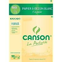 Canson - 27106 - Pochette de 10 feuilles de papier dessin - 180 g - A3