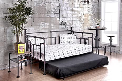 Emden Industrial Metal Twin Daybed W Trundle