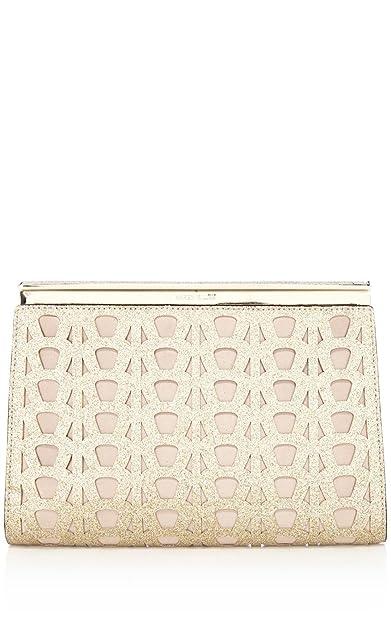 2ee612c065d Karen Millen sparkle clutch bag gold or black GR202 (Gold cut-out ...