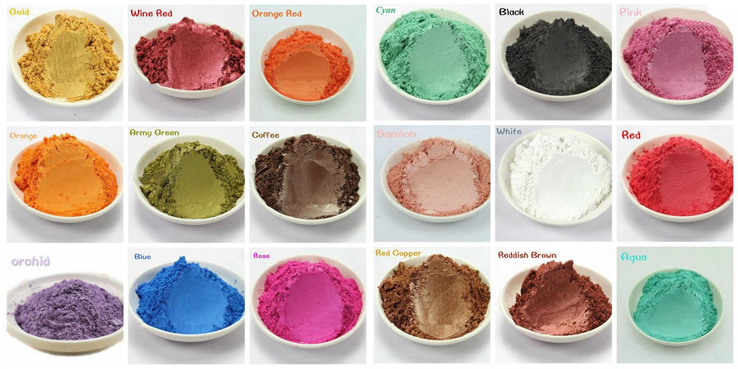 15-Color Pigments Shimmer Mica Powder - DIY Soap Making, Candle Making,Resin Dye, Mica Powder Organic for Soap Molds (3 Grams Each, 45 Grams Total) NIGHT-GRING