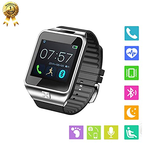 Amazon.com: FidgetKute Smart Watch Men Bluetooth Smartwatch ...
