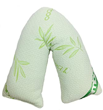 Luxus V Form Bambus Kissen Mit Atmungsaktiv Bio Cover