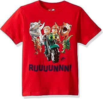 LEGO Boys Jurassic World Crazy Fridays T-Shirt Short Sleeve T-Shirt - red