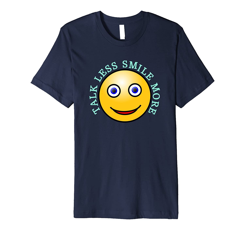 Smiley Face - Smile More Funny Emoji inspirational T SHIRT-CD