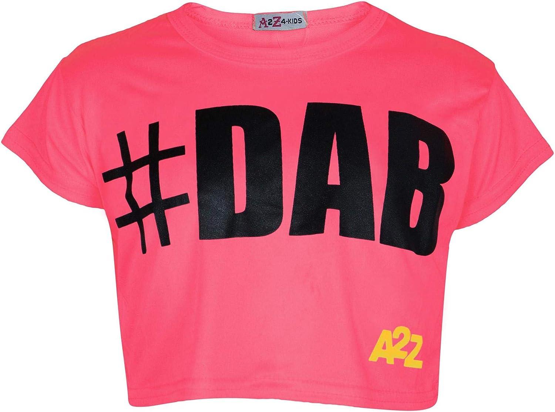 A2Z 4 Kids/® Kids Girls Comic Graffiti Scribble Leopard Floss #Dab #Selfie #No Filter #Love NYC Paris New York 76 Epic OMG Printed Fashion Crop Top /& Stylish Black Skater Skirt Set 7-13 Years