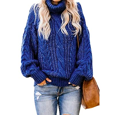 Acelitt Womens Casual Winter Long Sleeve Knit Sweater Pullover Jumper at Amazon Women's Clothing store