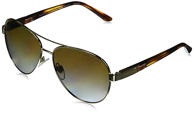Ralph Lauren 0Rl7054Q, Gafas de Sol para Mujer, Light Gold, 59