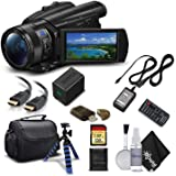 Sony Handycam FDR-AX700 4K HD Video Camera Camcorder with 128GB Memory Card + Carrying Case + HDMI Cable and More - Starter K