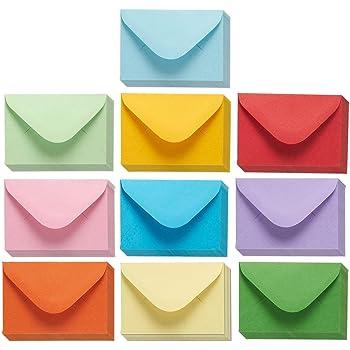Amazon business card size envelopes 2 18 x 3 58 white 100 juvale mini envelopes 100 count bulk gift card envelopes assorted color business card envelopes bulk tiny envelope pockets for small note cards colourmoves