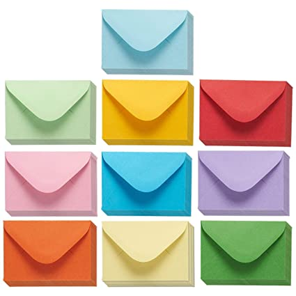 juvale mini envelopes 100 count bulk gift card envelopes assorted color business card - Business Card Envelopes