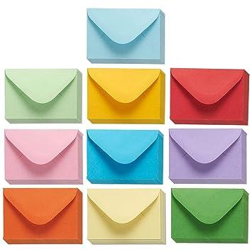 Juvale Mini Umschläge Große Geschenkkarten Umschläge Visitenkarten Umschläge Vorteilspackung 10 X 2 7 Cm 100 Stück