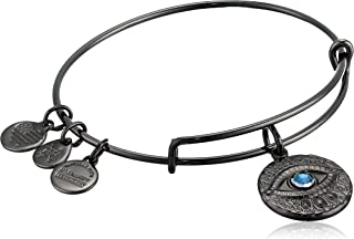 product image for Alex and Ani Women's Evil Eye Bracelet, Midnight Silver