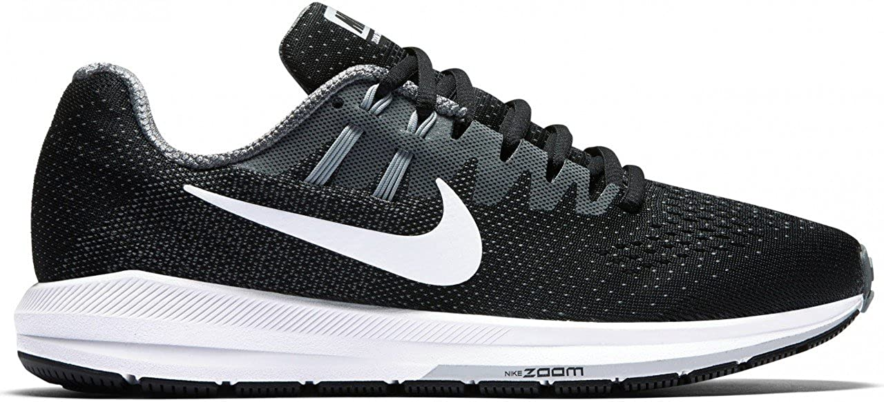 promo code c4a88 e57dd NIKE Women s WMNS Air Zoom Structure 20, Black White-Cool Grey-Pure  Platinum, 11 US