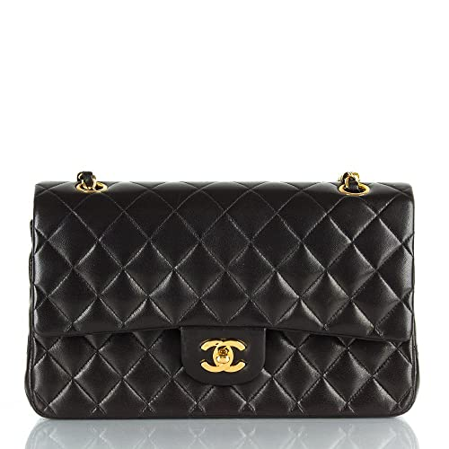 696635896c2116 Chanel Women's Black Vintage Matelassé Double Chain Shoulder Bag ...