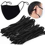 TOOVREN Upgraded Length 50 Pieces Elastic Mask String with Adjustable Buckle for Adult Children, Adjustment Elastic Band…