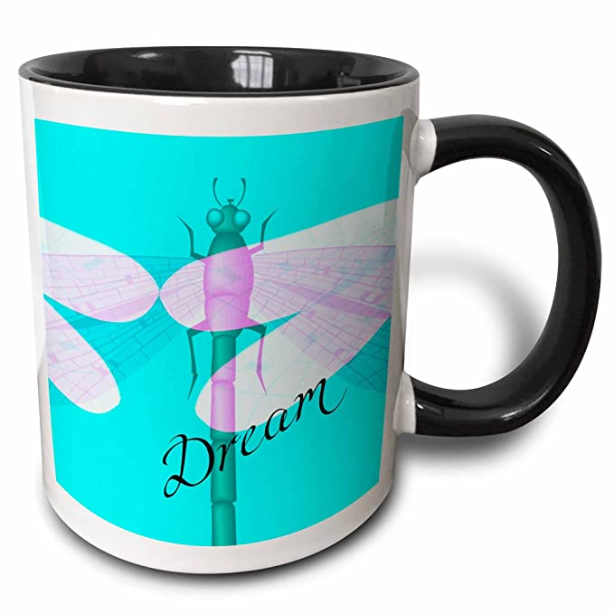 Buy 3drose Ps Creations Dream Dragonfly Abstract Art Insects And Their Meanings 11oz Two Tone Black Mug Mug 55650 4 Online At Low Prices In India Amazon In