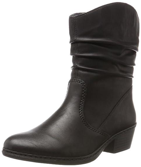 Rieker 75573, Botas Camperas para Mujer, Negro (Schwarz), 42 EU: Amazon.es: Zapatos y complementos