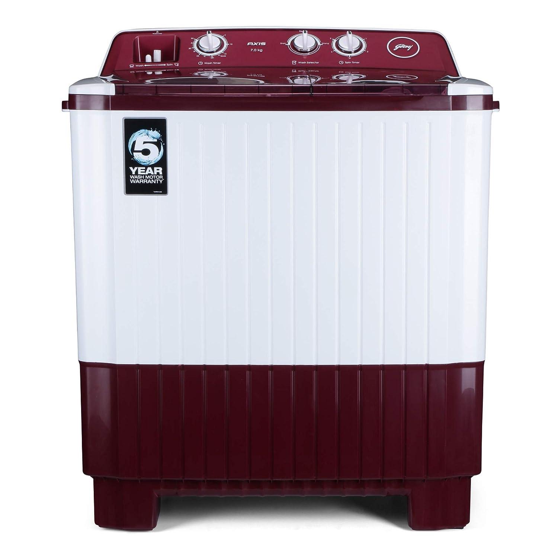 Godrej 7 Kg Semi-Automatic Top Loading Washing Machine – WS AXIS 7.0 PN2 T WNRD