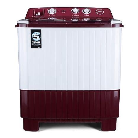 Godrej 7 Kg Semi-Automatic Top Loading Washing Machine (WS AXIS 7.0 PN2 T WNRD, Red, White)