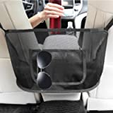 Car Net Pocket Handbag Holder Between Seats Seat Back Organizer Mesh for Car Seat Storage(Black)