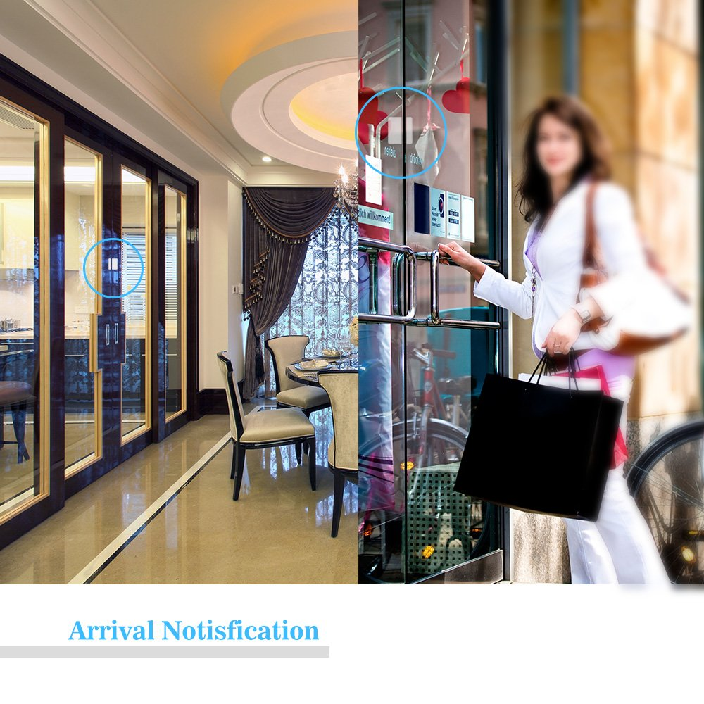 Wireless Door Sensor Alarm Chime, BITIWEND Home Security Window Entry Alert With Operating Range 600 feet/52 Chimes For Home/Garage/Shop (1 Door Sensor & 1 Receiver) by BITIWEND (Image #5)
