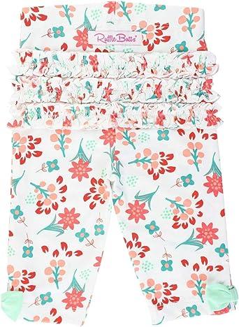 Amazon Com Rufflebutts Girls Stretchy Capri Leggings With Bow Clothing