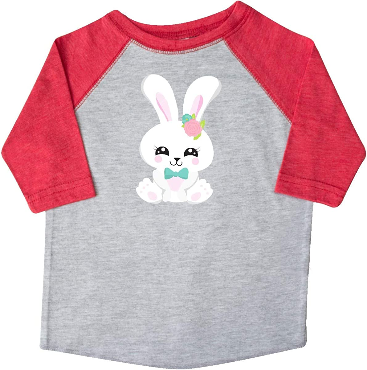 inktastic Cute Bunny White Bunny Bunny with Blue Bow Tie Toddler T-Shirt