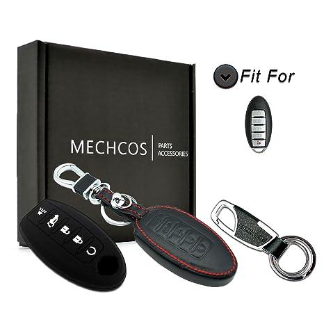Amazon.com: Para Nissan Altima Maxima 5 botones piel mando a ...