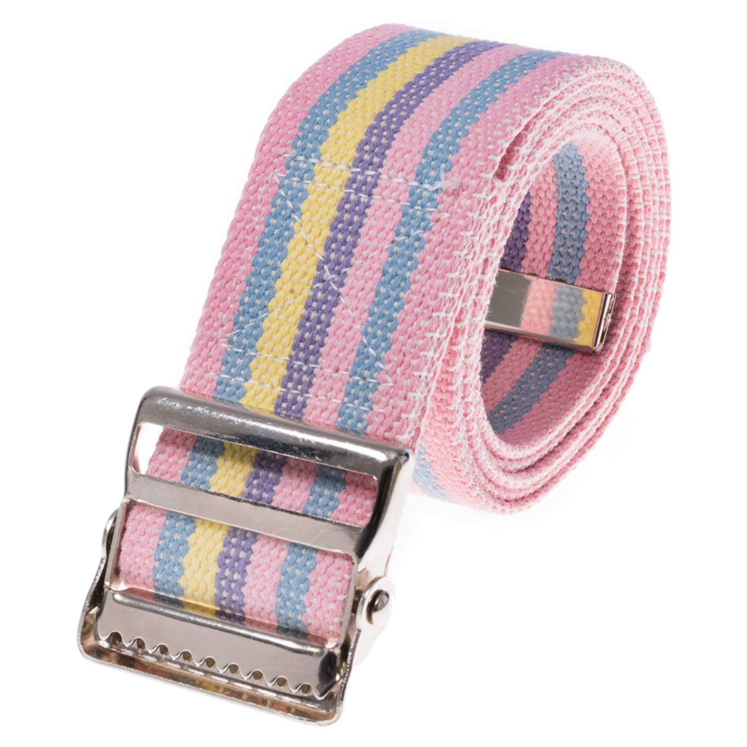 COW&COW Transfer and Walking Gait Belt with Metal Buckle for Caregiver Nurse Therapist 2 inches(Rainbow, 72inches) by COW&COW